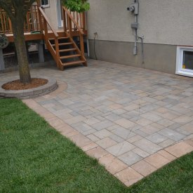 Backyard Patio with Existing Deck