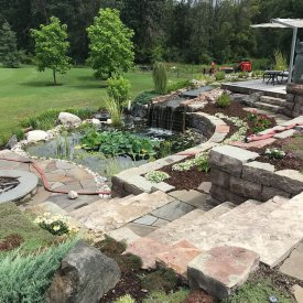 Custom Interlock Patio and Garden Oasis