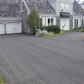 Full Asphalt Driveway With Roundabout