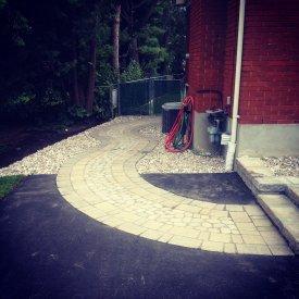 Interlock Path and Asphalt Driveway