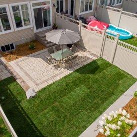 Backyard Patio, Walkway and Resodding