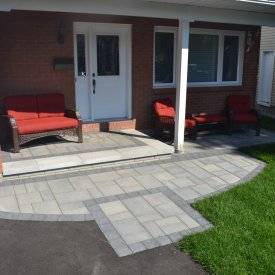 Front Entrance and Back Patio