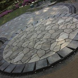 Large segmented Backyard Patio
