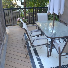 Composite Deck with Privacy Screen