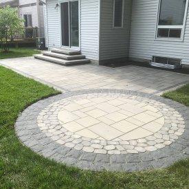 Circular Interlock Patio Design and Resodding